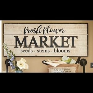 Fresh Flower Market Wall Sign